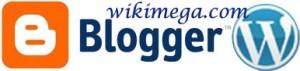 blogger can make money online, blogger logo, wordpress logo, how to make money by blogging