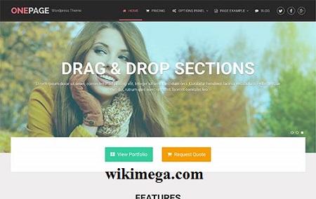 onepage wordpress theme pro free download